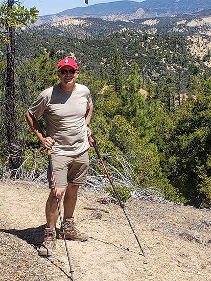Dr. Dean Amundsen Hiking in the Sierras