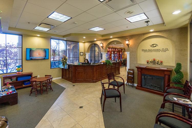 Lobby of Dr. Amundsen O.D. in Camarillo, California